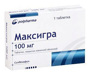 Максигра 100мг 1 шт. таблетки покрытые пленочной оболочкой польфарма