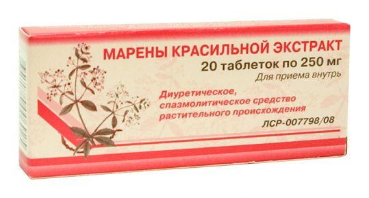 Марены красильной экстракт 250мг 20 шт. таблетки, фото №1