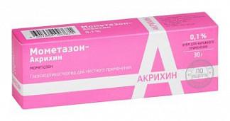 Мометазон-акрихин 0,1% 30г крем для наружного применения