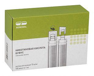 Никотиновая кислота буфус 10мг/мл 1мл 100 шт. раствор для инъекций