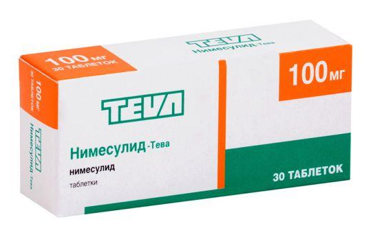 Нимесулид-тева 100мг 30 шт. таблетки, фото №1