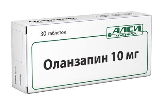Оланзапин 10мг 30 шт. таблетки, фото №1