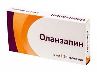 Оланзапин 5мг 28 шт. таблетки покрытые пленочной оболочкой