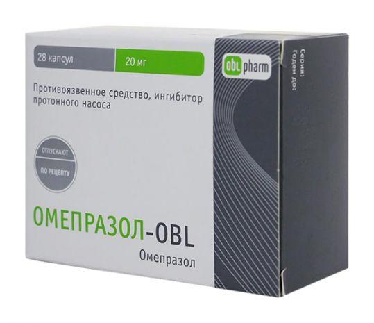 Омепразол-obl 20мг 28 шт. капсулы, фото №1
