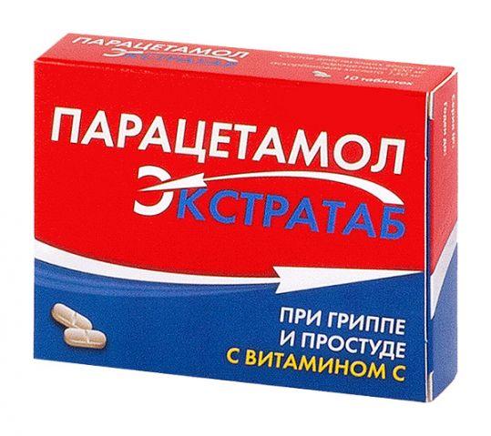 Парацетамол экстратаб 500мг+150мг 20 шт. таблетки, фото №1