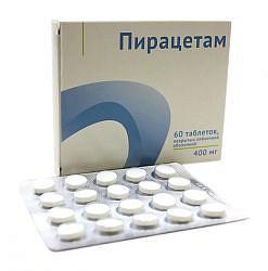 Пирацетам 400мг 60 шт. таблетки покрытые пленочной оболочкой