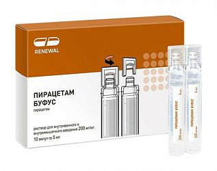 Пирацетам буфус 200мг/мл 5мл 10 шт. раствор для внутривенного и внутримышечного введения