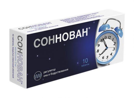 Соннован 3мг 10 шт. таблетки покрытые пленочной оболочкой, фото №1