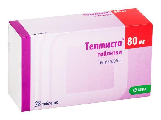 Телмиста 80мг 28 шт. таблетки, фото №1