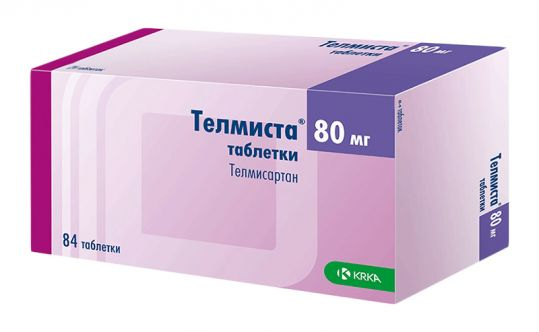 Телмиста 80мг 84 шт. таблетки, фото №1