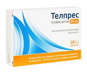 Телпрес 20мг 28 шт. таблетки