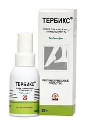 Тербикс 1% 30г спрей для наружного применения