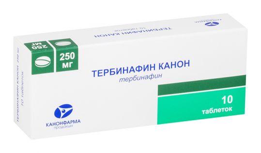 Тербинафин канон 250мг 10 шт. таблетки, фото №1