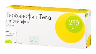 Тербинафин-тева 250мг 14 шт. таблетки
