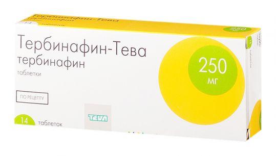Тербинафин-тева 250мг 14 шт. таблетки, фото №1