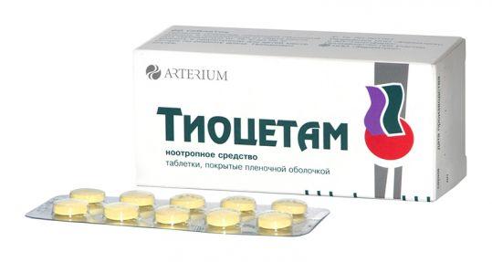 Тиоцетам 200мг+50мг 60 шт. таблетки покрытые пленочной оболочкой, фото №1