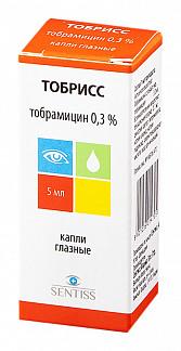 Тобрисс 0,3% 5мл капли глазные