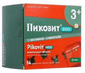 Пиковит юник таблетки жевательные 54 шт.