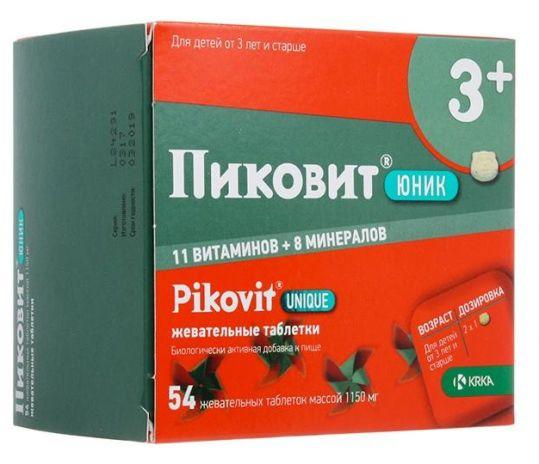 Пиковит юник таблетки жевательные 54 шт., фото №1