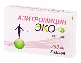Азитромицин экомед 250мг 6 шт. капсулы