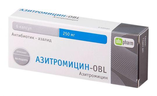 Азитромицин-obl 250мг 6 шт. капсулы оболенское хфк, фото №1