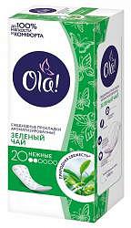 Ола лайт прокладки ежедневные ароматизированные зеленый чай 20 шт.