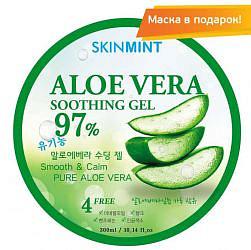 Скинминт гель для лица/тела увлажняющий с экстрактом алоэ 97% 300мл