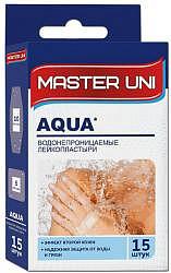 Пластырь мастерюни аква 15 шт. водонепроницаемый