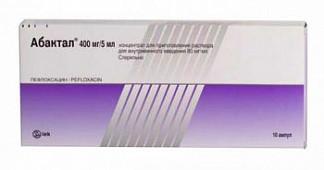 Абактал 400мг 5мл 10 шт. концентрат для приготовления раствора для инфузий