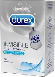Дюрекс презервативы инвизибл 18 шт.