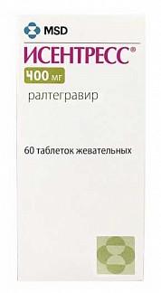 Исентресс 400мг 60 шт. таблетки покрытые пленочной оболочкой мерк шарп и доум б.в.