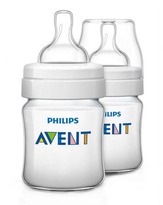 Авент классик бутылочка для кормления с соской для новорожденных 86040 (scf680/27) 125мл 2 шт., фото №1