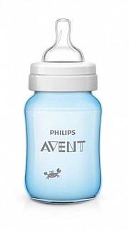 Авент классик плюс бутылочка для кормления крабы 80036 (scf573/14) голубая 260мл