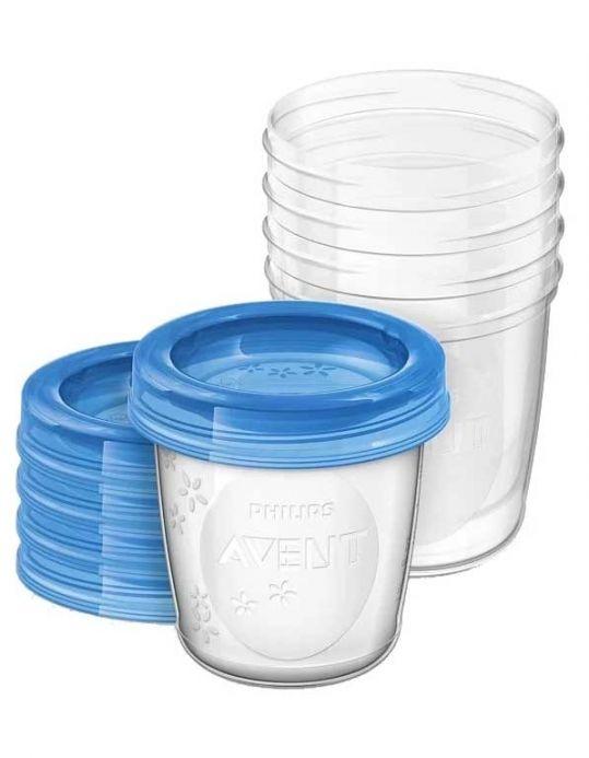Авент контейнер для хранения грудного молока (scf619/05) 180мл 5 шт., фото №1