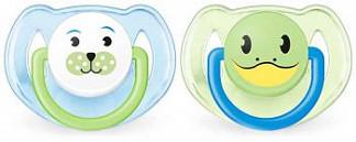Авент пустышка силиконовая для мальчиков 6-18 месяцев (scf182/14) 2 шт.