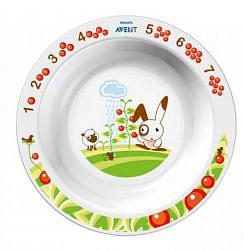 Авент тарелка для кормления глубокая большая с 12 месяцев 65620 (scf704/00) белая