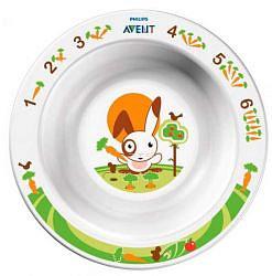 Авент тарелка для кормления глубокая маленькая с 6 месяцев 65630 (scf706/00) белая