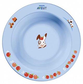 Авент тарелка для кормления глубокая маленькая с 6 месяцев 65636 (scf706/01) цветная