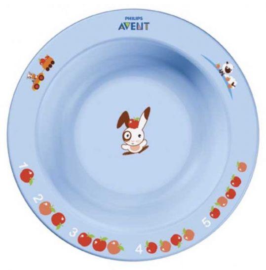 Авент тарелка для кормления глубокая маленькая с 6 месяцев 65636 (scf706/01) цветная, фото №1