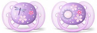 Авент ультрасофт пустышка силиконовая 6-18 месяцев (scf227/22) 2 шт.