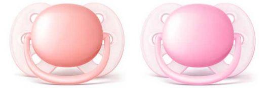 Авент ультрасофт пустышка силиконовая для девочек 0-6 месяцев (scf213/20) 2 шт., фото №1