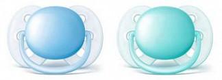 Авент ультрасофт пустышка силиконовая для мальчиков 0-6 месяцев (scf212/20) 2 шт.