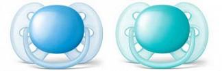 Авент ультрасофт пустышка силиконовая для мальчиков 6-18 месяцев (scf212/22) 2 шт.