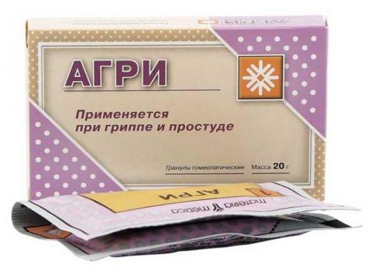 Агри (антигриппин гомеопатический) 10г 2 шт. гранулы гомеопатические, фото №1
