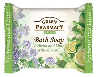 Зеленая аптека мыло туалетное вербена/лайм/оливковое масло 100г