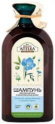 Зеленая аптека шампунь для окрашенных/мелированных волос ромашка и льняное масло 350мл