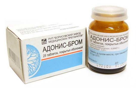 Адонис-бром 25 шт. таблетки покрытые оболочкой, фото №1