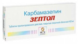 Зептол 400мг 30 шт. таблетки пролонгированного действия покрытые пленочной оболочкой