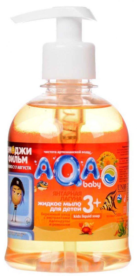 Аква бэби мыло жидкое детское янтарная лагуна 300мл, фото №1
