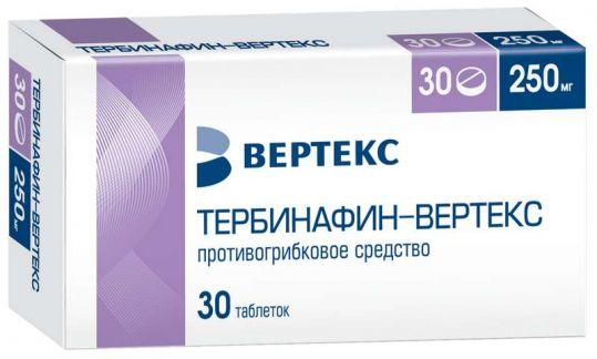 Тербинафин-вертекс 250мг 30 шт. таблетки, фото №1